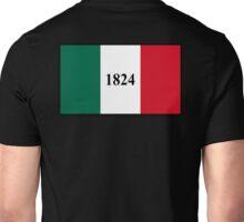 THE ALAMO, The Alamo Flag, TEXAS, Remember the Alamo, American Flags, 1824, Texians, Flags of America, American, USA Unisex T-Shirt