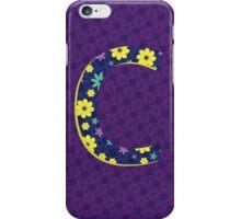Flower Letter C iPhone Case/Skin