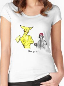 Pikachu is stronger than you Women's Fitted Scoop T-Shirt