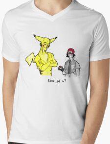 Pikachu is stronger than you Mens V-Neck T-Shirt
