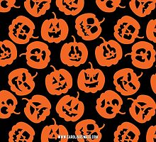 Halloween Pumpkin Pattern Black by Carolina Swagger