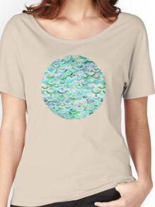 Marble Mosaic in Mint Quartz and Jade Women's Relaxed Fit T-Shirt