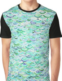 Marble Mosaic in Mint Quartz and Jade Graphic T-Shirt