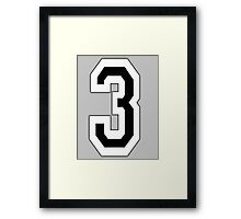 3, TEAM, SPORTS, NUMBER 3, THREE, THIRD, Competition Framed Print