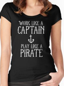WORK LIKE A PIRATE Women's Fitted Scoop T-Shirt