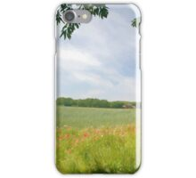 Field edged by poppies iPhone Case/Skin