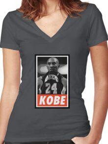 (BASKETBALL) Kobe Bryant Women's Fitted V-Neck T-Shirt