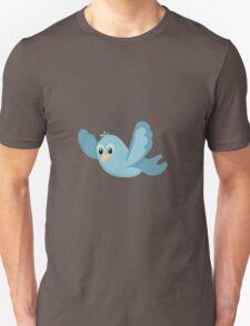 Cartoon Blue Bird Unisex T-Shirt
