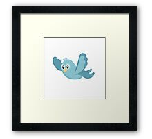Cartoon Blue Bird Framed Print