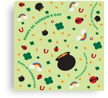 SW Shamrock Pattern Canvas Print