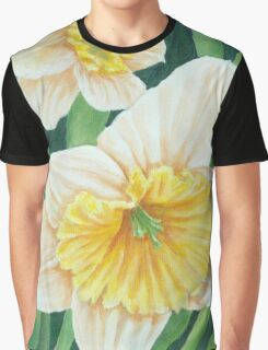 Spring Daffodils Painting Graphic T-Shirt