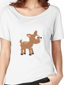 Cartoon Deer Women's Relaxed Fit T-Shirt