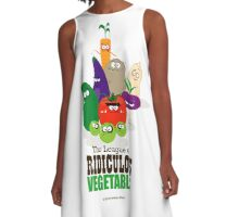 The League of Ridiculous Vegetables A-Line Dress
