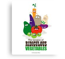 The League of Ridiculous Vegetables Canvas Print