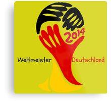 FIFA World Cup Champion  Deutschland Glückwunsch Metal Print