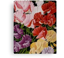 Floral Sweet Peas Canvas Print