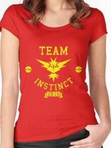 team instinct - pokemon Women's Fitted Scoop T-Shirt