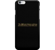 "The difference... ""Jimmy Johnson"" Inspirational Quote iPhone Case/Skin"