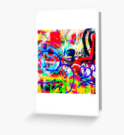 Crazy Graffiti Greeting Card