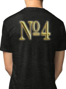 4, NUMBER 4, GOLDEN 4, NUMBER FOUR, FOUR, 4, FOURTH, Competition, TEAM SPORTS,  Tri-blend T-Shirt