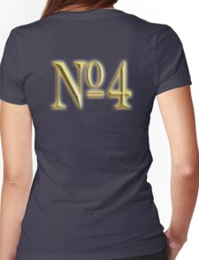 4, NUMBER 4, GOLDEN 4, NUMBER FOUR, FOUR, 4, FOURTH, Competition, TEAM SPORTS,  Womens Fitted T-Shirt