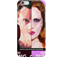 Death & His Petulant Daughter iPhone Case/Skin