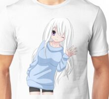 Anime Girl waving Unisex T-Shirt