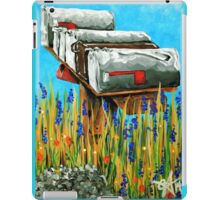 Rural Water Cooler Mail Mailbox Wildflowers Beautiful Country iPad Case/Skin