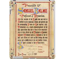 Mesmerism certificate, 1888 iPad Case/Skin