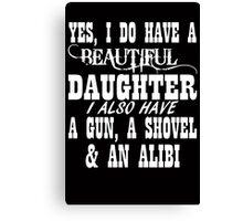 Father's Day Gun Canvas Print