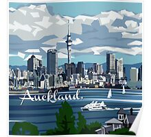 Auckland Harbour Poster