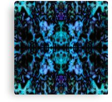 Blue psychedelic kaleidoscope pattern Canvas Print