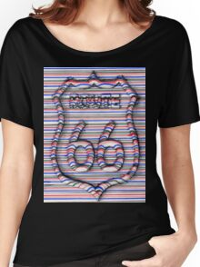 Route 66 3d line  Women's Relaxed Fit T-Shirt