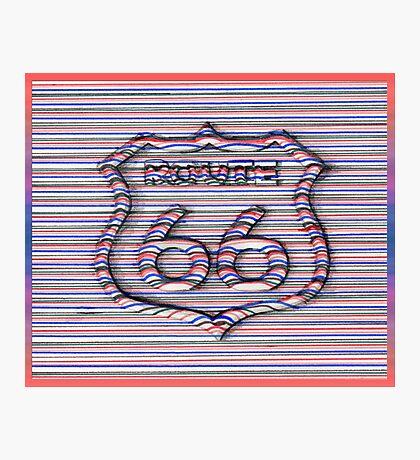 Route 66 3d line  Photographic Print