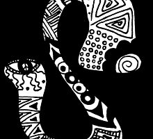 "Hipster Letter ""S"" Zentangle by alexavec"