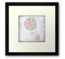 paper flower Framed Print