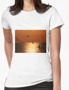 Sunset Sail Womens Fitted T-Shirt