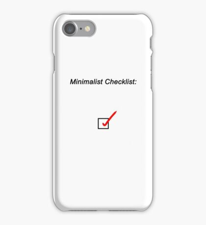 Minimalist Checklist iPhone Case/Skin