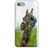 Quirky Giraffe with Tongue Sticking Out iPhone Case/Skin