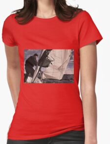 Sail On Womens Fitted T-Shirt