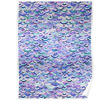 Marble Mosaic in Amethyst and Lapis Lazuli Poster