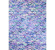 Marble Mosaic in Amethyst and Lapis Lazuli Photographic Print