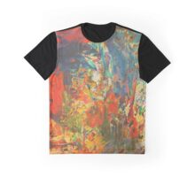 Blue and Red Wall Graphic T-Shirt