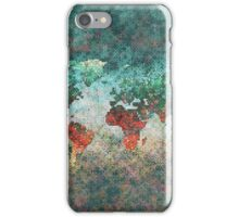 World Map Square iPhone Case/Skin