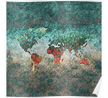 World Map Square Poster