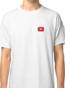Youtube Button White Background Classic T-Shirt