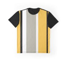 Stripy - Ochre and Grey Graphic T-Shirt