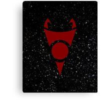 Irken Invader Symbol (Red) Canvas Print