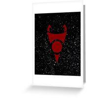 Irken Invader Symbol (Red) Greeting Card