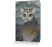 Meowl- owl cat Greeting Card